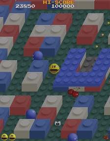 - Pac Man makes the transition to 3D in Pac-Mania!