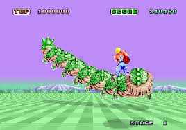 - Either shoot it, or get out of it's way in Space Harrier.
