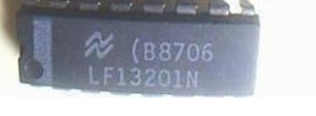 LF13201 Quad SPST JFET Analog Switches