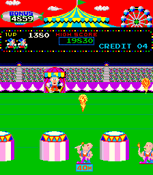 - Guide Charlie through six different circus events including Fire Rings, Tightrope, Trampoline, Ball Walk, Springs, and Flying Trapeze. Timer bonus points are added for finishing a level and more points are awarded for completing a round without losing Charlie. The game is over when all Circus Charlies are lost.